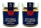 Bottarga di Muggine grattugiata Su Tianu Sardu - 2 confezioni da 70g - Lavorata a mano in Sardegna, Italia - Caviale del Mediterraneo - Produzione artigianale
