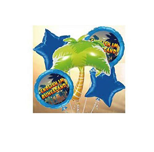 Udo Schmidt GmbH & Co Folien-Ballon-Set Endlich im Ruhestand, 5-TLG.