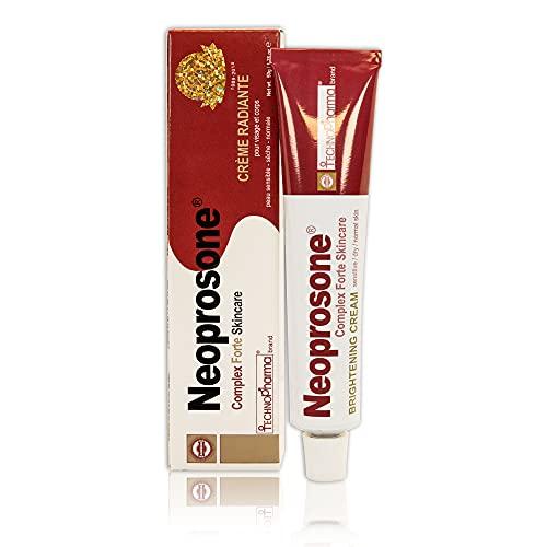 Neoprosone, Skin Brightening Cream | 1.7 Fl oz / 50 ml | Fade Dark Spots on: Face, Elbows, Knees, Body | with Alpha Arbutin, Lactic Acid, Castor Oil