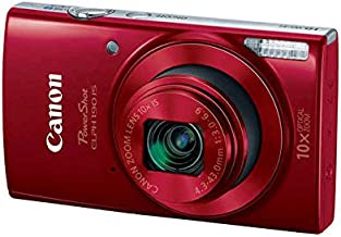 Canon PowerShot ELPH 190 IS Digital Camera (Red) with 10x Optical Zoom and Built-In Wi-Fi with 32GB SDHC + Flexible tripod + AC/DC Turbo Travel Charger + Replacement battery + Protective camera case