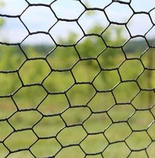 Trident Enteprises 8' X 100' Steel Hex Web Black PVC Coated Dog Fence