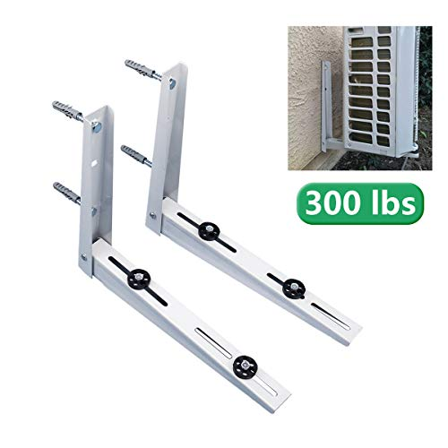 Forestchill Foldable Wall Mount Bracket, fits Mini Split Ductless Outdoor Unit Air Conditioner Condensing Unit Heat Pump System Condenser Universal Design, Support up to 300lbs, 15000-24000 BTU,1-4P