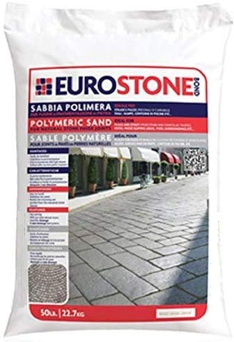 "Alliance Euroston Bond Polymeric Sand for Natural Stone and Cobble Stone Paver Joints up to 1.5"" (Slate Gray) 50 Lb Bag"