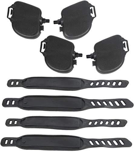 Fahrradzubehör Fahrrad Spinning-Fahrrad-Pedal-Verband-Bügel-Fitness-Bike Pedal Adjustment Strap Zubehör 2 Sets (Zwei Paare jeweils) Zubehör