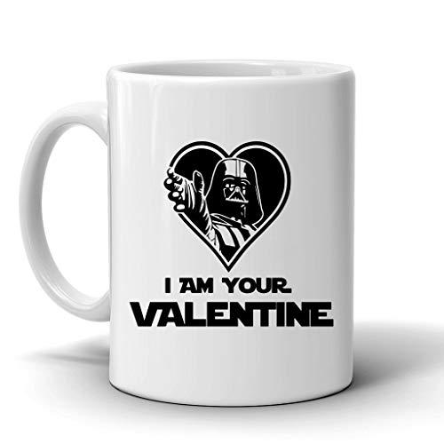 Lplpol Taza de té – I Am Your Valentine Taza de café de cerámica, Darth Vador, Star Wars Idea de regalo, regalo para el día de San Valentín para él/ella, 325 ml
