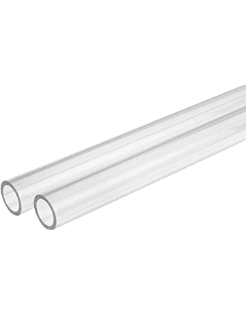 2pcs 6-45mm Diameter Clear Acrylic Plastic Lucite Tube Pipe Wall 3mm 10 inch