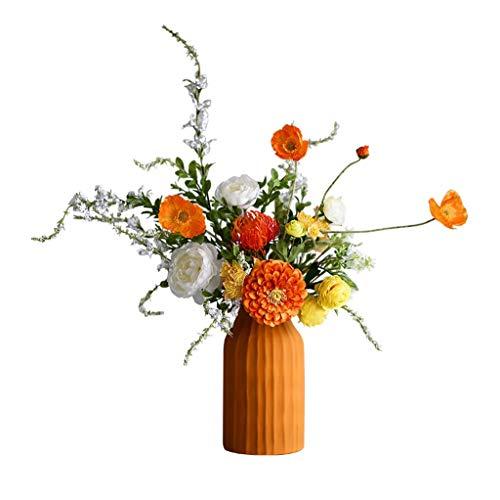 NYKK Künstliche Blume Im europäischen Stil künstliche Blumen Set Blumenstrauß, Keramik Vase Gefälschte Blume Kreative Innen künstliche Blumen-Ornamente, künstliche Blumen Bonsai Ewige Blume