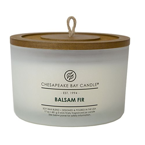 Chesapeake Bay Candle 3-Wick Scented Candle, Balsam Fir, Coffee Table Jar