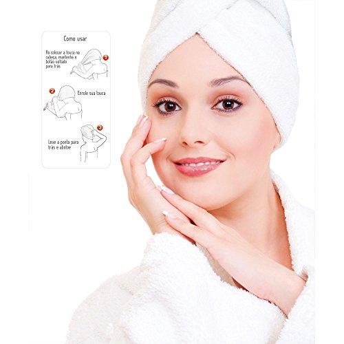 Touca de Banho Felpudo Liso Branco