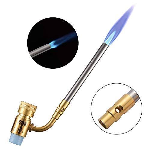 TOPQSC Gas Burner Mapp Welding Torch Brazing Gun Super Propane Gas Welding Plumbing New Propane Torches
