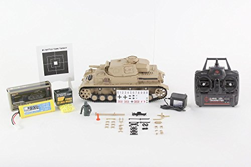 RC Kettenfahrzeug kaufen Kettenfahrzeug Bild 1: XciteRC 35511000 Ferngesteuerter RC Panzer Modellpanzer DAK Kampfwagen IV F-1 - Ready to Race Sound and Smoke 1:16, braun*