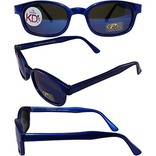 KDs Unisex-Adult Biker sunglasses (Blue/Blue, One Size)