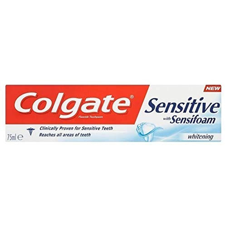 [Colgate ] Sensifoamホワイトニング歯磨き粉75ミリリットルと敏感コルゲート - Colgate Sensitive with Sensifoam Whitening Toothpaste 75ml [並行輸入品]