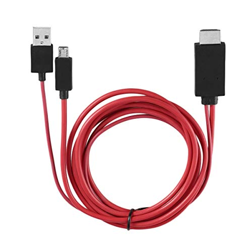 Tree-es-Life Cable Profesional MHL 1080p Micro USB a HDMI Compatible con 11 Pines para Samsung Galaxy S1-4 Note1-4 S4 I9500 S3 I9300 Rojo