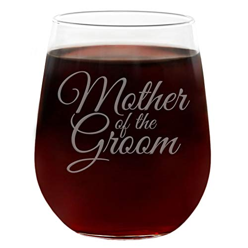 Copa de vino de boda sin tallo grabada con caja de regalo, tamaño grande, 591 ml