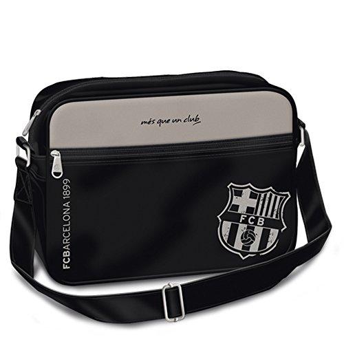 *Exclusiv* FC Barcelona Schultertasche Tasche Umhängetasche 35x11x25cm LEDER LOOK
