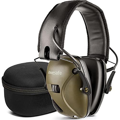 awesafe Electronic Shooting Earmuff [ Comes with Hard Travel Storage...
