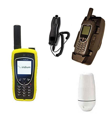 SatPhoneStore Iridium 9575 Extreme Satellite Phone Marine Package with Marine Antenna, Sat Phone Dock w/Privacy Handset & Blank Prepaid SIM Card for Online Activation