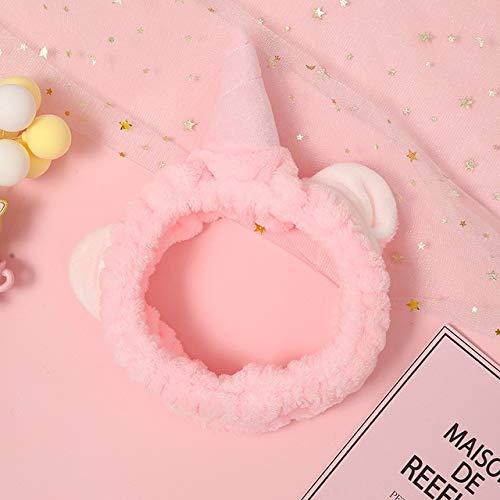 8 PcsWomen's Cute Fashion Girls Wash Makeup Headband Children Kids Hair Band Bow Stretch Hair Band Hair Accessories Gite Gift Pink Unicorn