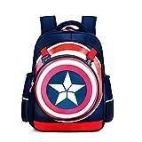 Los Vengadores Mochila Escolar Capitán América Backpack School para Niños Juveniles Portatil...
