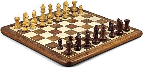 Ajedrez para tablero harry potter viaje Conjunto de ajedrez, ajedrez juego de ajedrez de ajedrez de ajedrez con incrustaciones hechas a mano sheesham sheesham Tablero de madera 16 'Piezas de ajedrez d