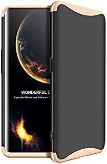 Oppo Find X case 360 GKK Degree 3 pieces Plastic From top, bottom and center - Black & Gold