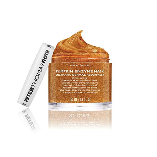 Pumpkin Enzyme Mask Enzymatic Dermal Resurfacer, Exfoliating Pumpkin Facial Mask for Dullness, Fine Lines, Wrinkles and Uneven Skin Tone