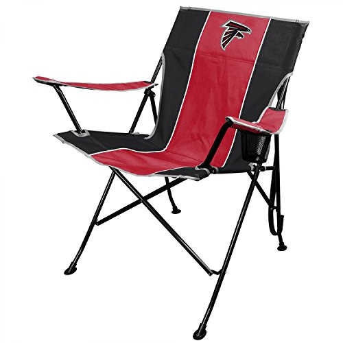 NFL Portable Folding Tailgate Chair with Cup Holder and...