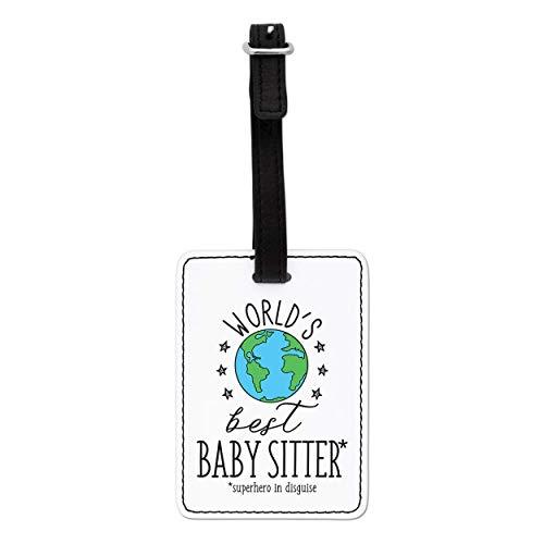 Gift Base World's Mejor Bebé Sillón Visual Etiqueta de Equipaje con Negro Correa
