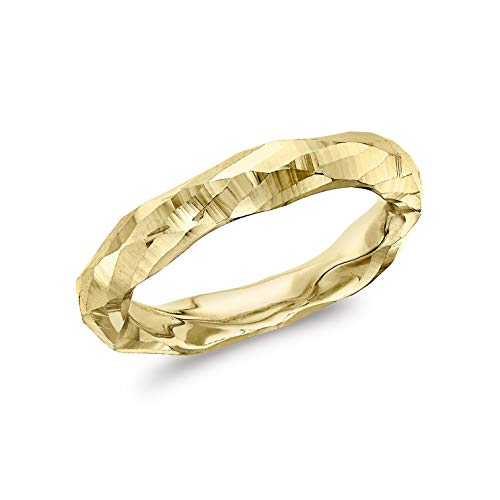 Carissima Gold Anillo con Facetas Corte de Diamante 3.5mm Oro Amarillo 9 Quilates para Mujer #K