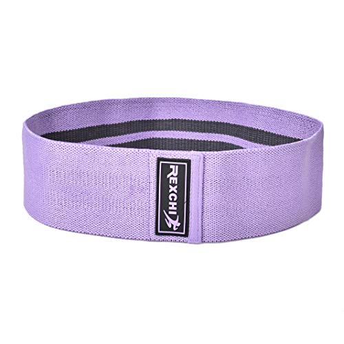 REXCHI Resistance Bands for Legs and Butt,Booty Bands, Activate The Hips,Shape The Arms,Correct The Shape of Legs. Tough and Resistant to Breakage (Purple, Large)