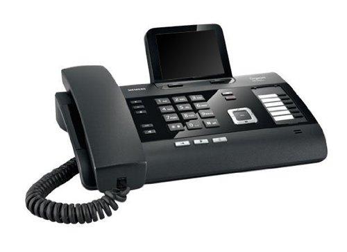 Gigaset DL500A Schnurgebundenes DECT-Telefon mit ca. 8,9 cm (3,5 Zoll) großem Bildschirm, Bluetooth, Schwarz