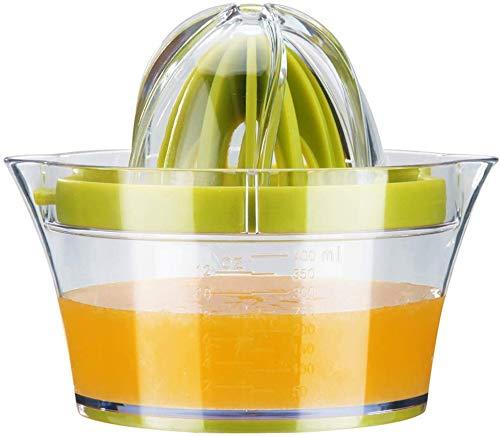Exprimidor de cítricos 4 en 1 multifunción manual profesional profesional de zumo de frutas con cinturón de plástico de 400 ml recipiente y colador