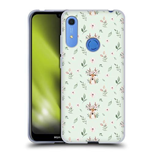Head Case Designs Officially Licensed Kristina Kvilis Patrón de Ciervo Animales Lindos Carcasa de Gel de Silicona Compatible con Huawei Y6 / Y6s (2019)