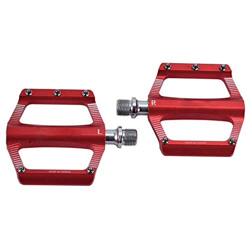2 Pcs Mountain Bike Pedal, Aluminum Alloy Wide Bicycle Platform Pedals Ultralight Mtb Bmx Bicycle Cycling Road Bike Hybrid Pedals