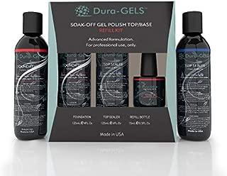 Refills, Top Coat and Base Coat for Gel Polish - Long Lasting Soak Off Gels for Gel Nail Polish Require UV/LED Lamp, 2X 125ml Bottles