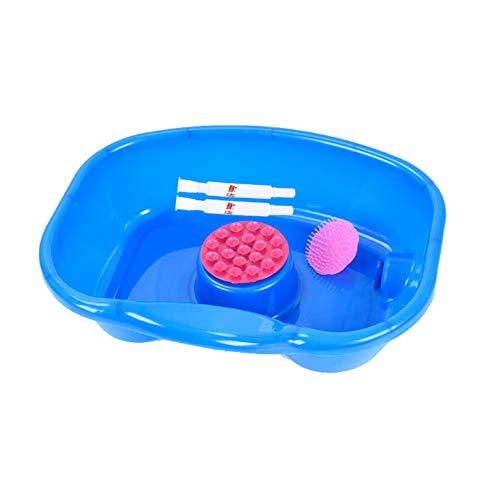 WGXY Haarwaschbecken, Shampoo-Becken für das Pflegebett, Shampoo-Tablett für Behinderte, ältere Menschen, Patienten (Blau)