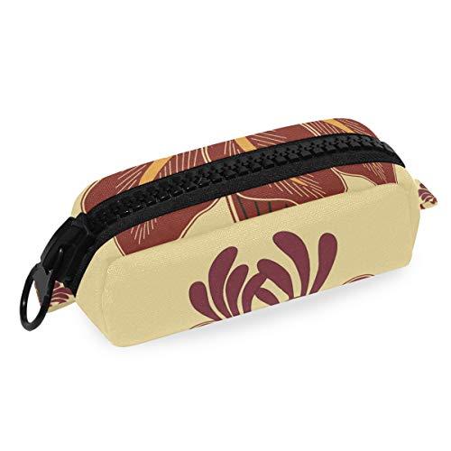 Montoj Federmäppchen mit großer Kapazität, rote Lilie, Make-up-Pinsel-Organizer, Tasche aus Segeltuch