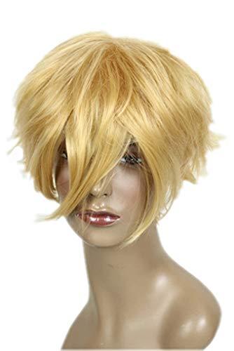 Prettyland C522 - Naruto 30cm perruque courte degradée blonde - résistante au lavage à haute température