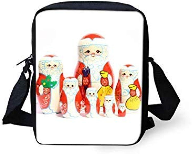 Bloomerang FORUDESIGNS Handbags Russian Matryoshka Dolls Women Messenger Bags for Girls Flap Small Crossbody Bag Sling Chain Shoulder Bolsa color Y0582E