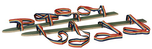 pedalo® Sommerski Hand-Fußschlaufe I 2 - 4 Spieler I Koordination I Rasenski I Wiesenski I Kindergarten I Teamspiel (160 cm - 4 Spieler)