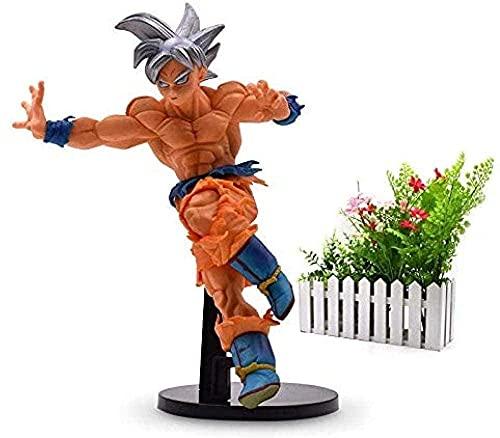 Anime Dragon Ball Super Saiyan Goku Ultra Instinto Figura de acción Son Goku PVC Dragonball Modelo Muñeca Hot Toys sin Caja con Caja