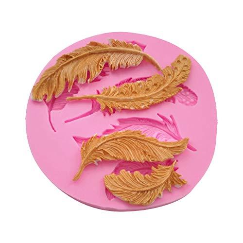 Kuchenform Räumungsverkauf,Silikonfeder Fondant Schimmelkuchen Tier Vögel Vögel Feder Schokolade Backen DIY Schimmel,Silikonform für Schlafzimmer Dekoration