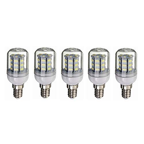 Bombilla LED Bombilla LED de baja tensión E14 4W 12V 24V blanco cálido 3000K / 6000K Blanco fresco del bulbo DC12-80V No regulable LED vela bulbo ahorro de energía - 5-Pack [Clase energética A