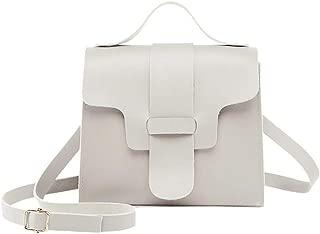 Bageek Crossbody Bag Portable Coin Purse Square Bag Shoulder Bag for Women (Grey)
