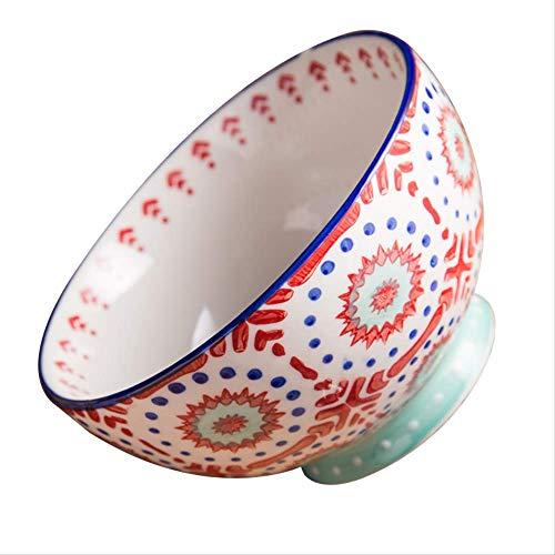 GJDBBLY Bol Cocina Casera Pintada A Mano Cuenco De Cerámica Porcelana Porcelana Glaseado Sopa Cuenco De Ensalada De Frutas como se Muestra como se Muestra