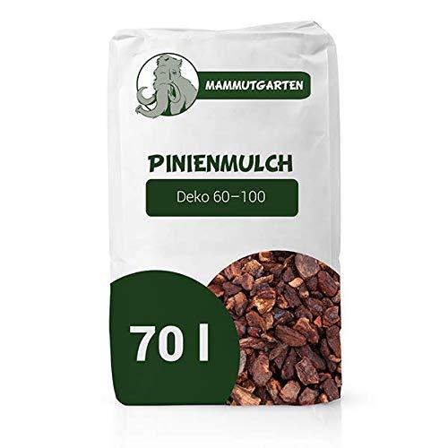 MammutGarten Pinienmulch Pinie Rinde Garten Deko 60-100 mm 70l Sack