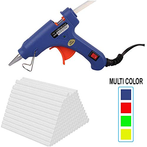 W WADRO - Built with Passion 40W Trigger Feed Leak Proof Hot Melt Glue Gun (Random Color) (28 Sticks)