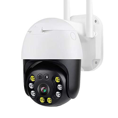 LHNEREGLHNEREG Cámara IP De 5MP PTZ WiFi para Exteriores con Detección De Movimiento, Monitor De Vigilancia Impermeable con Visión Nocturna Y Audio Bidireccional, Blanco