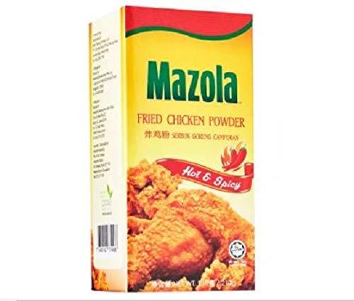Mazola Pollo frito en polvo (caliente y picante) 210g - Disfruta de tu delicioso pollo frito con condimento de pollo frito especialmente mezclado de Mazola